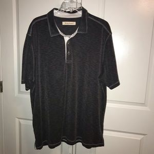 Tommy Bahama Shirts - Tommy Bahama Gray Paradiso Polo Shirt Men's 2XL